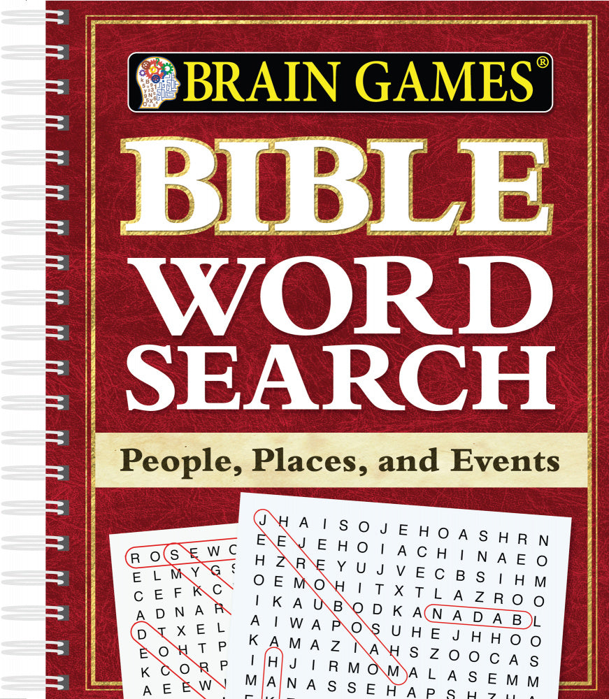 Bible Word Search - People, Places, and Events (Brain Games)