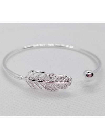 Feather Bracelet - Sterling Silver