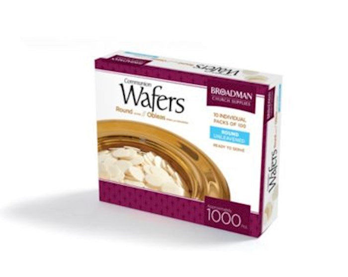Communion - Unleavened Bread Wafers (Round, White, 100 pieces)