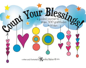 Count Your Blessings- a guided journal to draw 100 gratitudes in 30 days