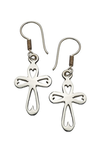 Earrings - Cross - Heart for Christ