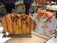 Load image into Gallery viewer, Faux Barnwood Standing Pumpkin Class, Thursday, October 15, 2020, 6:30 PM