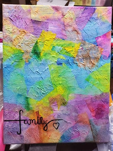 "Original Artwork by Linda Crummer - ""Family"""