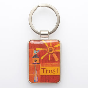 Metal Keyring: Trust God's Unfailing Love