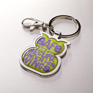 Metal Keyring: Safe and Secure Owl - Psalm 46:1