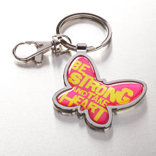 Load image into Gallery viewer, Metal Keyring: Be Strong Butterfly - Psalm 27:14