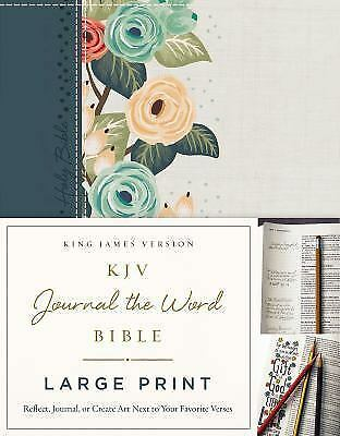 KJV Journal the Word Large Print Bible - Floral