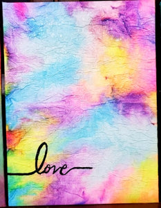 "Original Artwork by Linda Crummer - ""Love"""