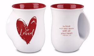 Mug - Handwarmer - So Loved - Red Heart
