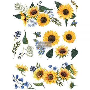 Redesign Decor Transfer - Sunflower Fields (Prima)
