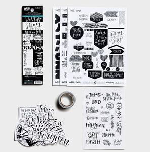 Faith > Fear Bible Journaling Kit -Illustrated Faith