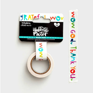 Washi Tape - Wow God - Illustrated Faith