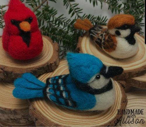 Needle Felted Birds (Handmade With Allison)