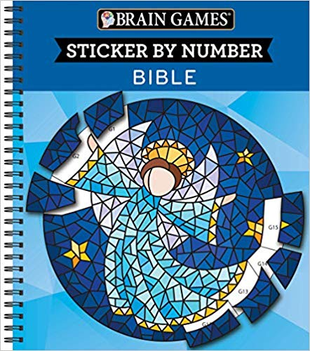 Sticker By Number - Bible (Brain Games)