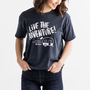 T-Shirt - Live the Adventure - Blue