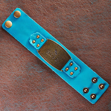 Load image into Gallery viewer, Ladies Leather Wristband: Hope Buckle in Teal