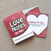Love Notes for Kids: 32 Messages of God's Love for Your Child