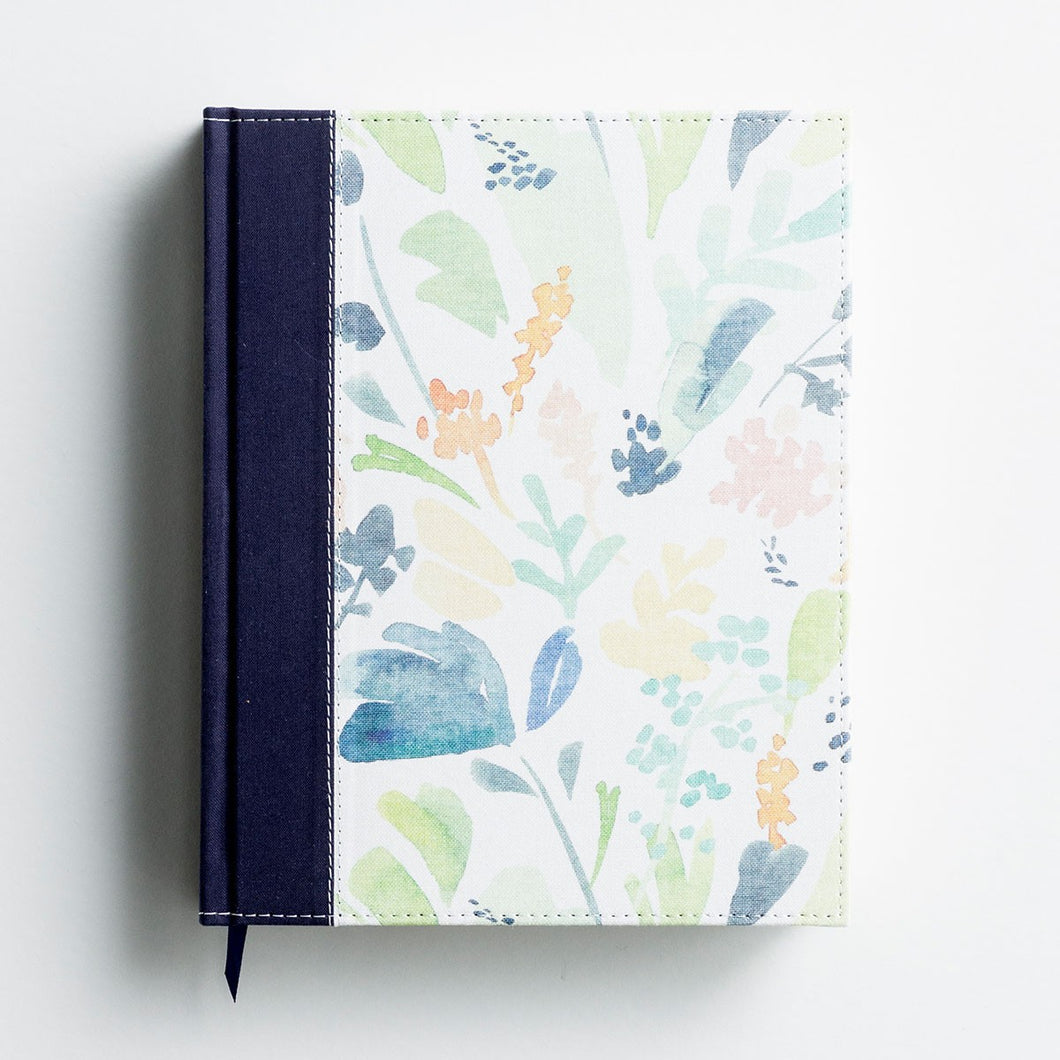 NIV Beautiful Word Coloring Bible, Large Print - Navy Floral