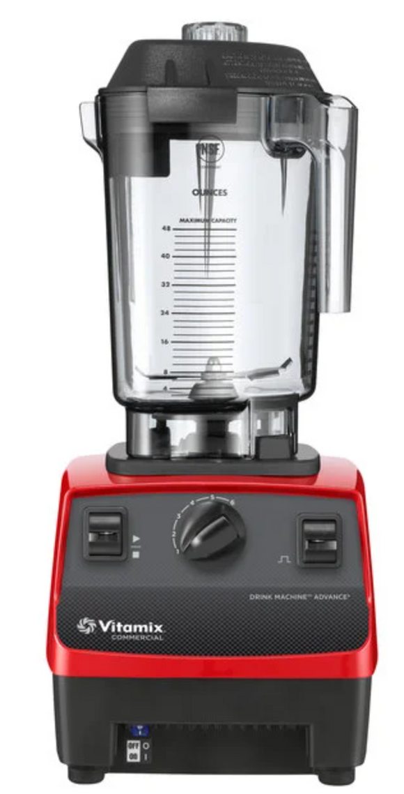 Vitamix Commercial Blender Drink Machine Advance, Red w/ 48 oz. Contai –  ACBM Tech - Restaurant Equipment Supply and Repairs