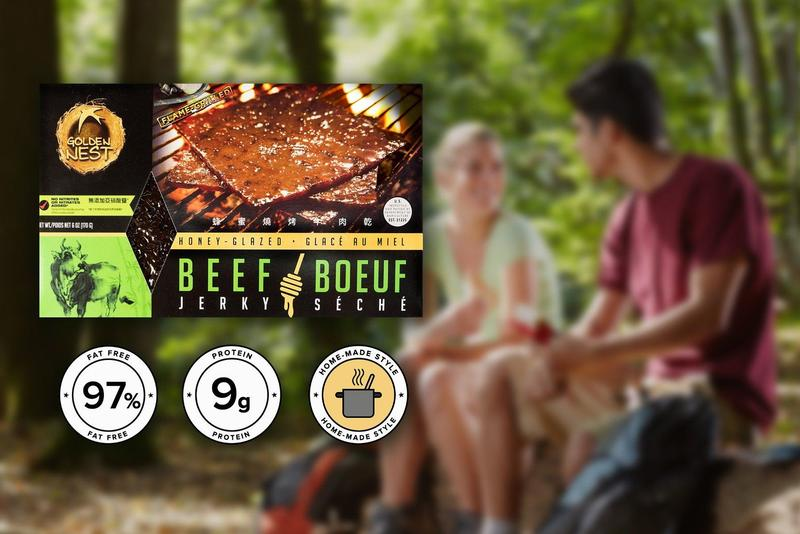 Golden Nest Beef Jerky - Honey Glazed - 6 oz.