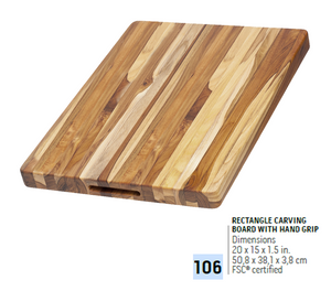 106 Traditional, Rectangle Carving Board | Teakhaus