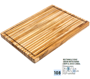 108 Traditional, Rectangle Edge Grain | Teakhaus