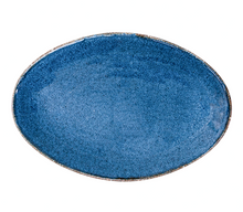 "Load image into Gallery viewer, 13 3/8"" Indigo Oval Platter 