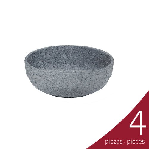 Bowl Embrocable 500 ml Melamina, Gray Granite | Tavola
