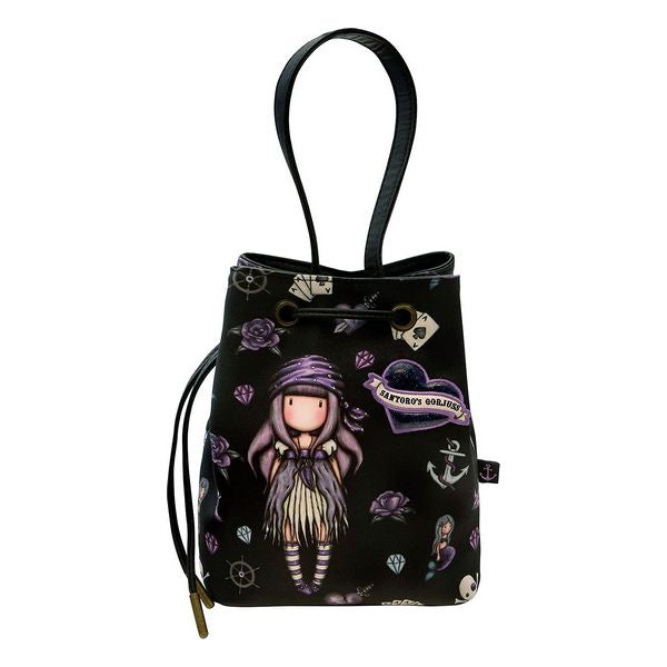 Casual Backpack Gorjuss Sea Nixie Purple Navy Blue