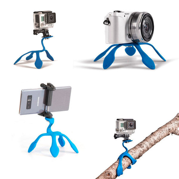 Portable tripod Blue flexible