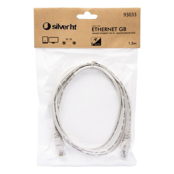 UTP Category 5e Rigid Network Cable Silver Electronics 93033 1,5 m Grey