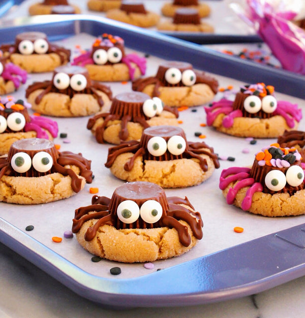 Spooky Spider Peanut Butter Cookies