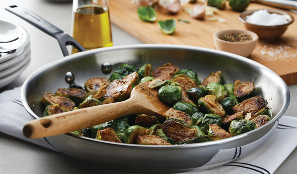 Simple Pan Roasted Brussels Sprouts
