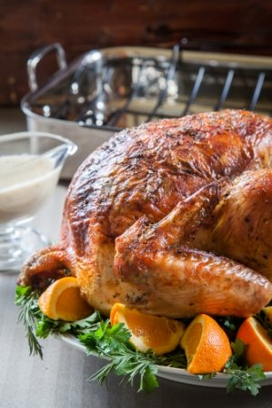 Roast Turkey with Herbes de Provence and White Wine Gravy