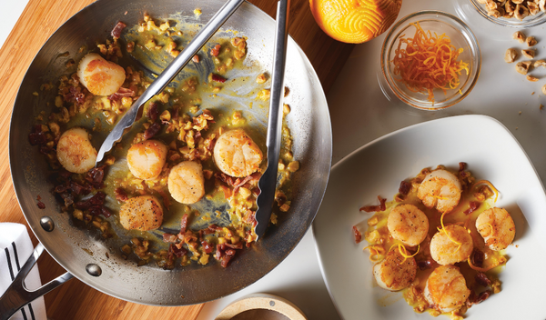 Scallops with Orange-Hazelnut Brown Butter