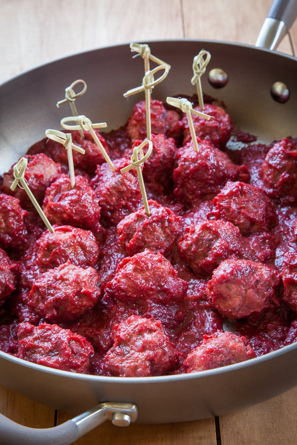Turkey Meatballs in Cranberry BBQ Sauce