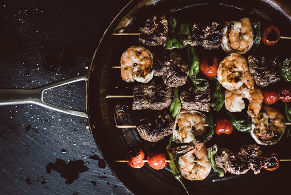 Surf & Turf Skewers with Chimichurri Sauce