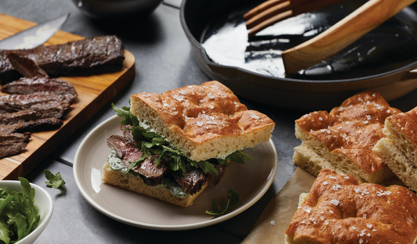 Skirt Steak Sandwiches with Arugula and Herbed Mayonnaise