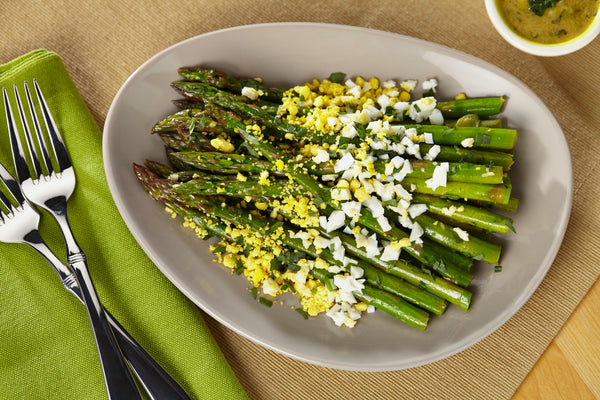 Asparagus with Tarragon Vinaigrette and Eggs Mimosa
