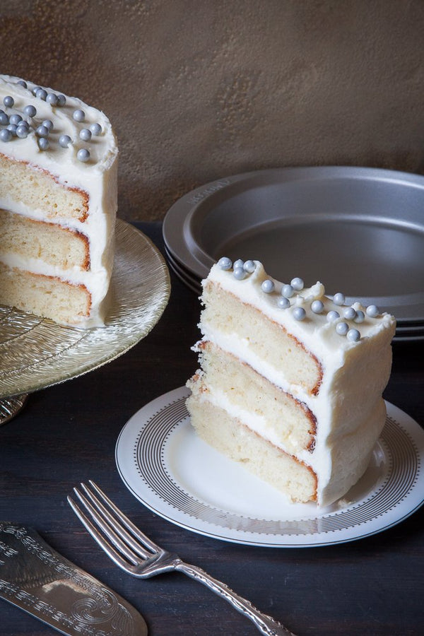 Champagne Cake with Gin Buttercream Frosting