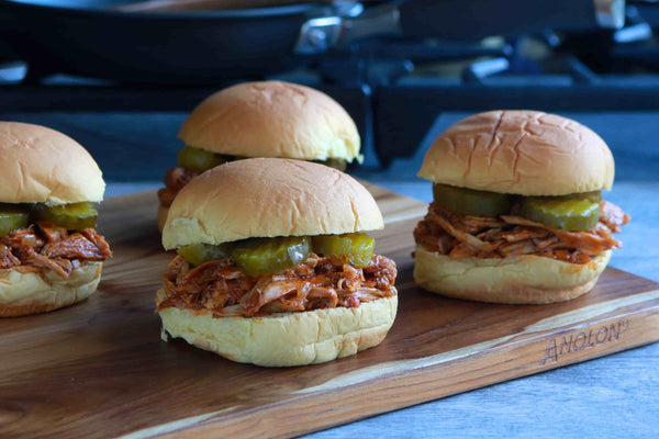 Pulled Turkey and Carolina Mop Sauce Sandwiches