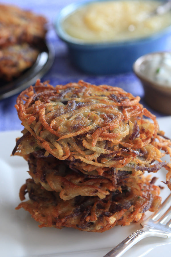 Blue Potato-Two Potato Latkes