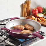 Create Delicious 12.5-Inch Deep Frying Pan with Helper Handle