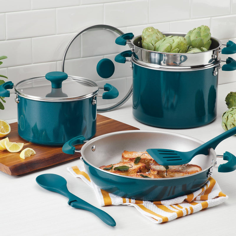 Create Delicious 8-Piece Stacking Cookware Set