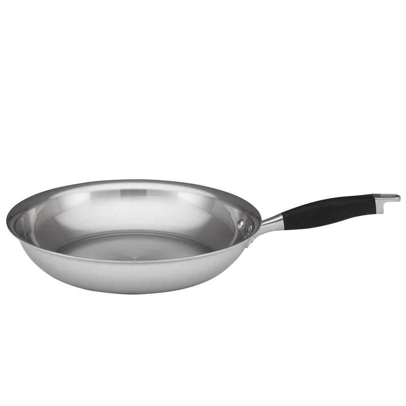 "Advanced Tri-Ply 10.25"" Nonstick & 12.75"" Stainless Steel Frying Pan Set"