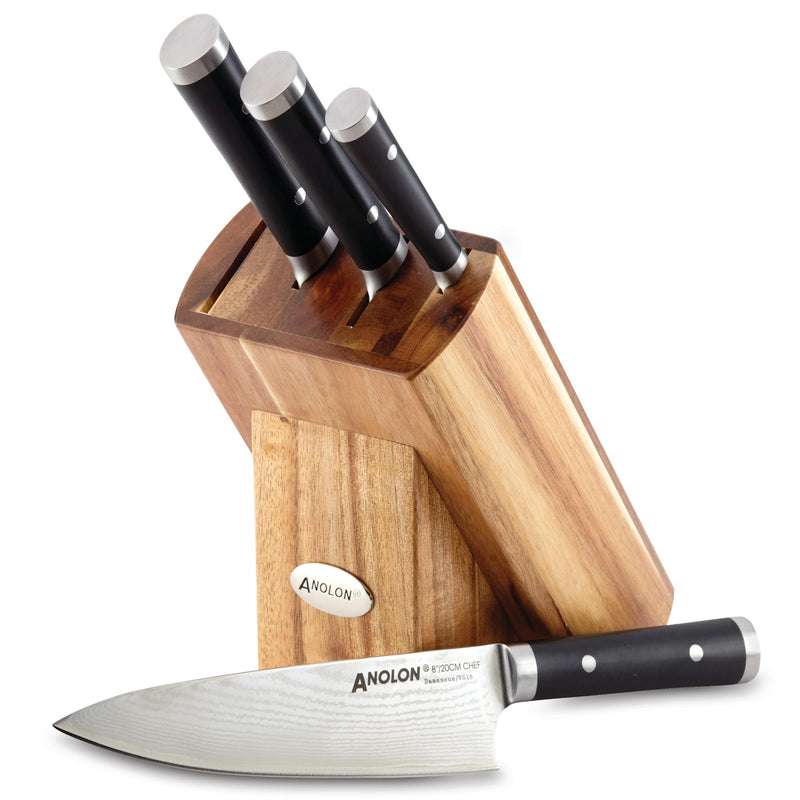Imperion Damascus 5-Piece Knife Block Set