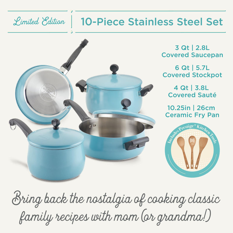120 Limited Edition Stainless Steel 10-Piece Cookware Set