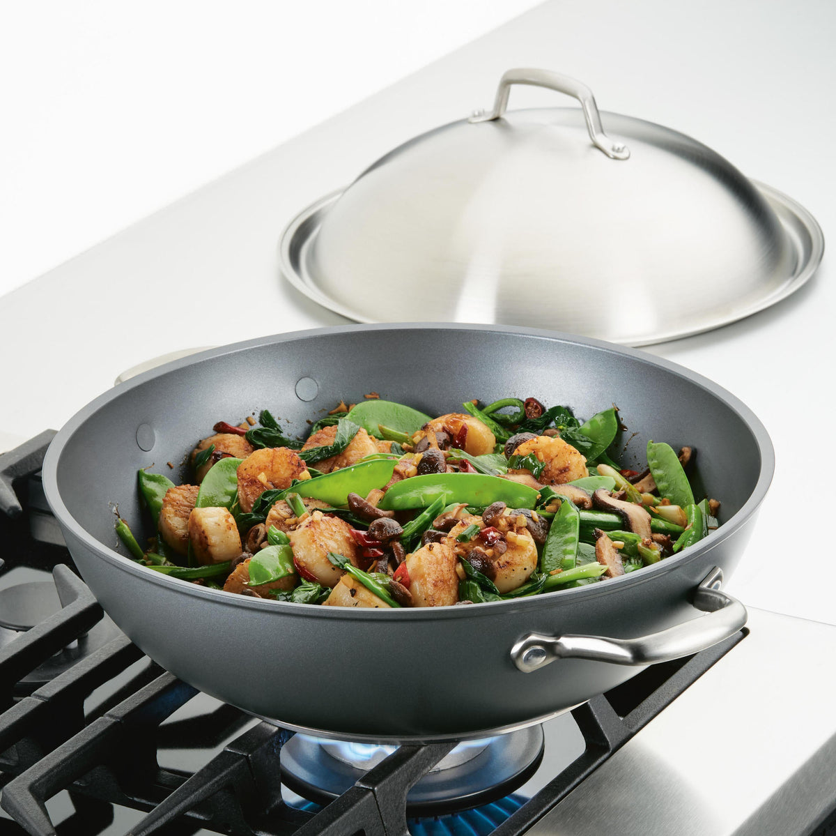 Accolade 13.5-Inch Wok with Lid