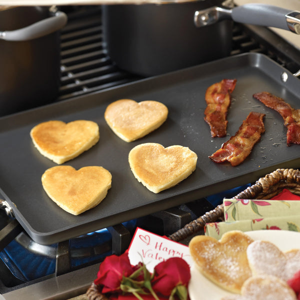 "Advanced 10"" x 18"" Double Burner Griddle with Mini Turner"