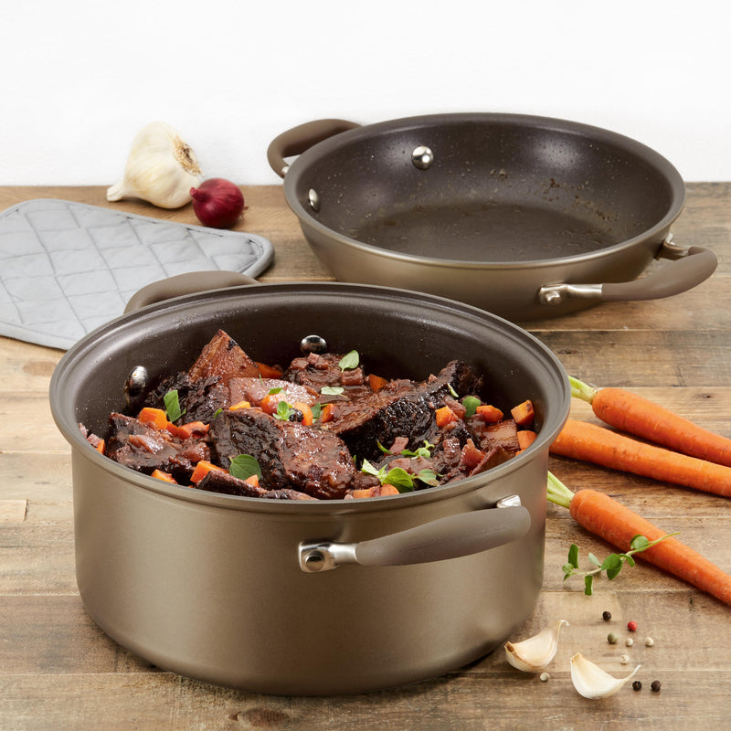 "Advanced 5-Qt. Round Dutch Oven and 10"" Fry Pan Lid"